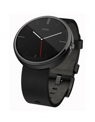 Motorola Moto 360 Black Leather; Motorola; SP0418; Умные часы Motorola
