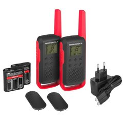 Рации Motorola TALKABOUT T62 RED TWIN PACK & CHGR; Motorola; RM006; Рации МОТОРОЛА